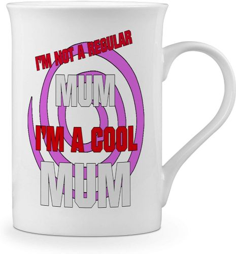 I'm Not A Regular Mum, I'm a Cool Mum Novelty Gift Fine Bone China Mug
